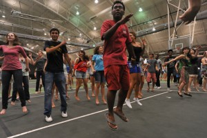Students participating in Feet to the Fire: Feast or Famine