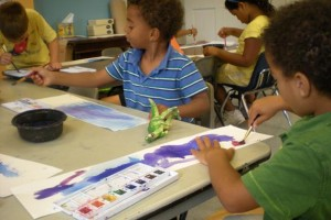 Children's artmaking at United Southend Settlement, a member of the National Guild for Arts Education
