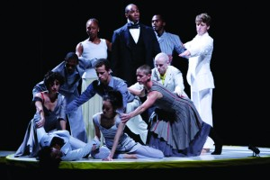Bill T. Jones' company in a performance of Fondly Do We Hope…Fervently Do We Pray.