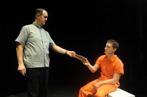 Erik Sanvold and Sean Scrutchins in a Curious performance.