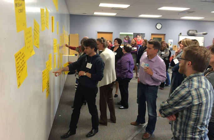 Representatives from the ten participating organizations in New Pathways | Alaska joined together in Anchorage at the end of June for their first participant-led forum. Image: Louise Brooks.