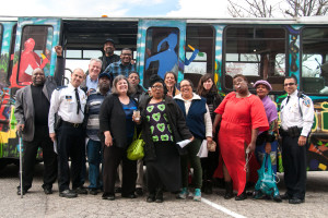 Lab participants in Providence, RI on a learning journey in the local transit system